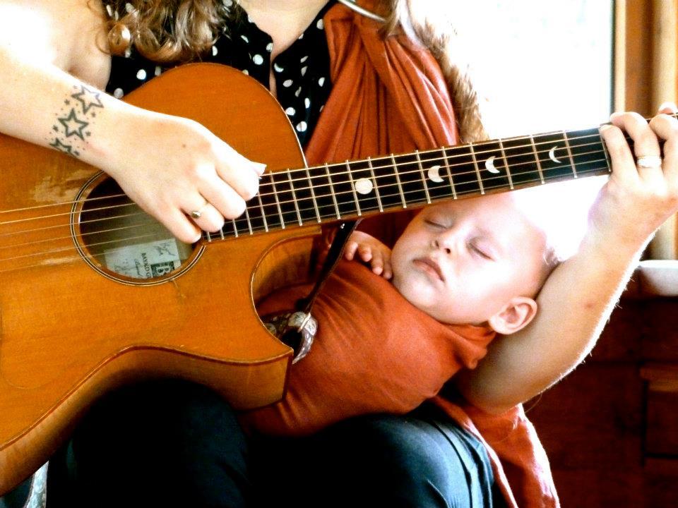 emmett under the guitar